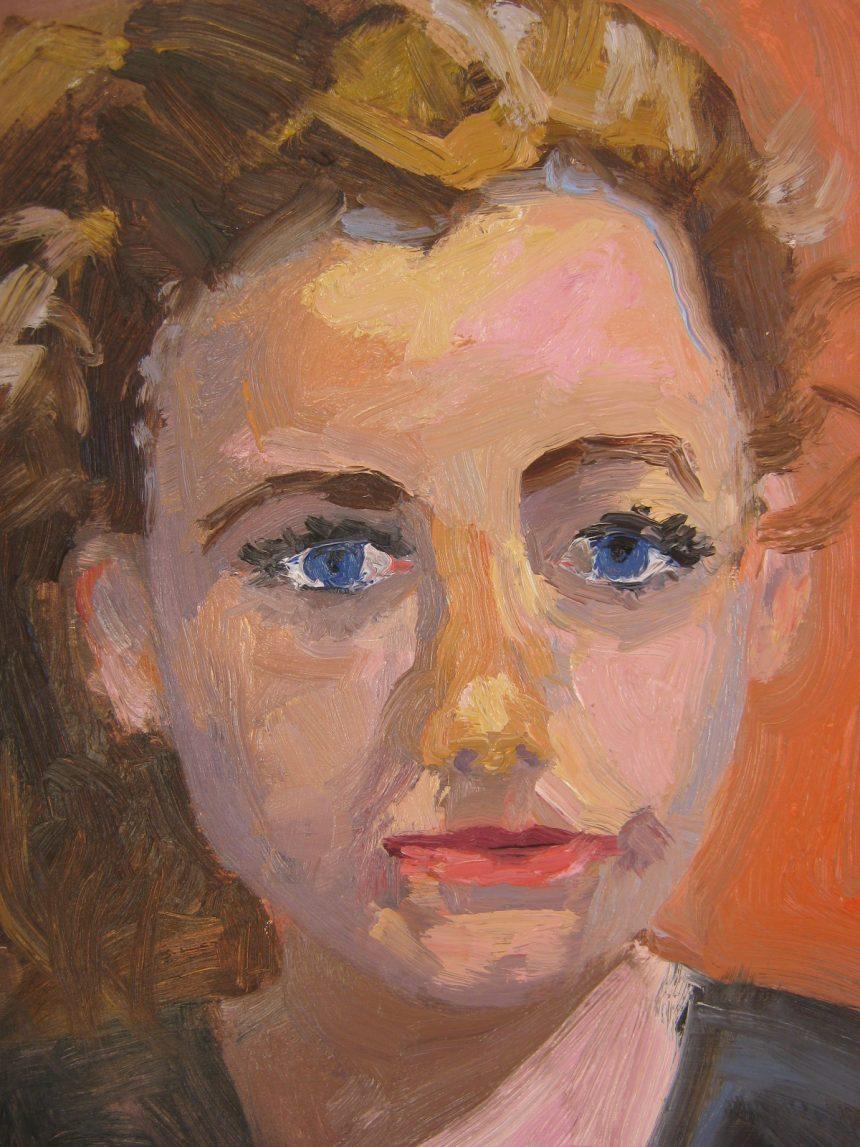 suzette portrait oil painting