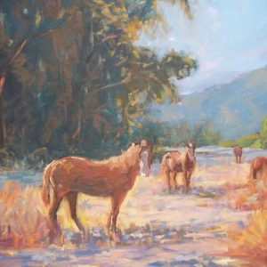 Kathleen Robison Horse Painting Carmel Machiatto