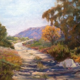 Desert Path Oil Painting by Kathleen Robison