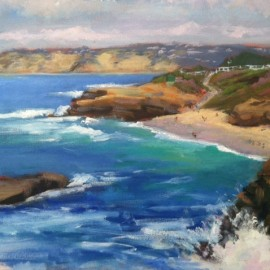 La Jolla Oil Painting by Kathleen Robison