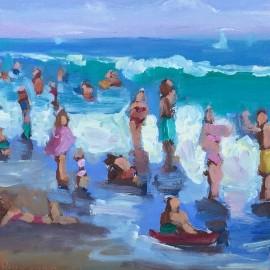 Beach Fun Oil Painting
