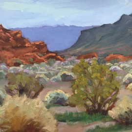 Valley of Fire, Nevada Oil Painting