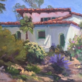 Casa Romantica Oil Painting