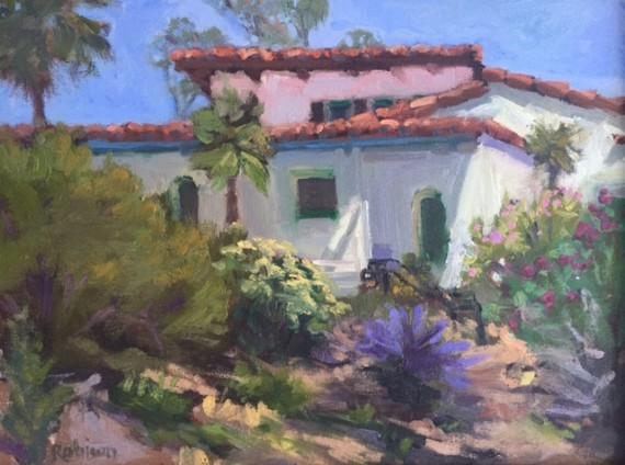 Casa Romantica Oil Painting