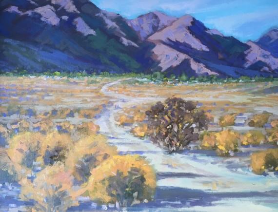 La Quinta Desert Oil Painting