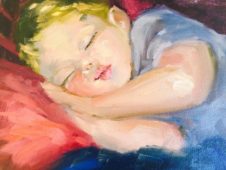 figure oil painting