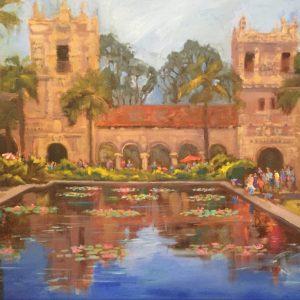balboa park san diego oil painting