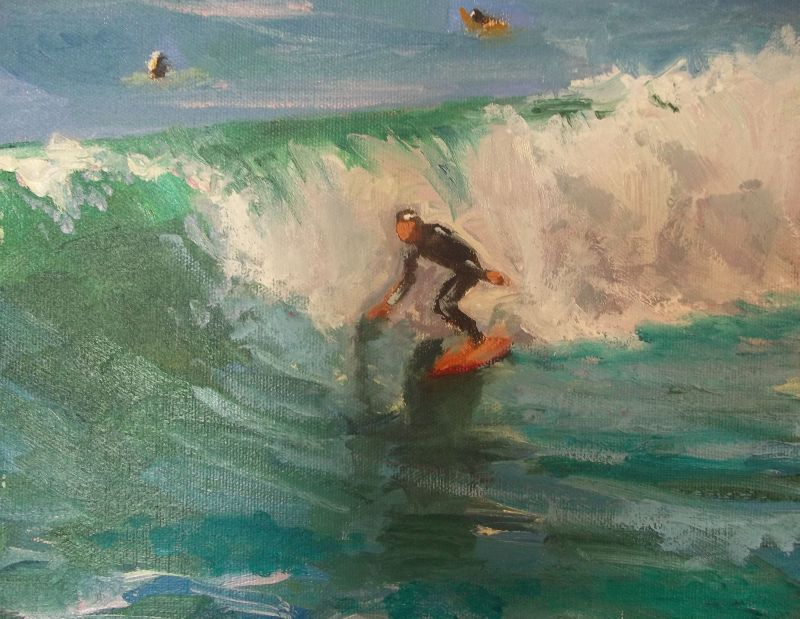 Surfer Painting Kathleen Robison