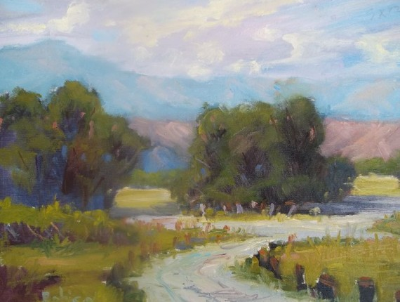 Caspers Park, Ortega Highway 12x16 Oil painting