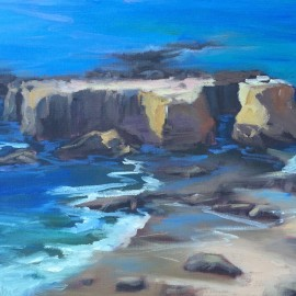 rocks n surf painting laguna beach