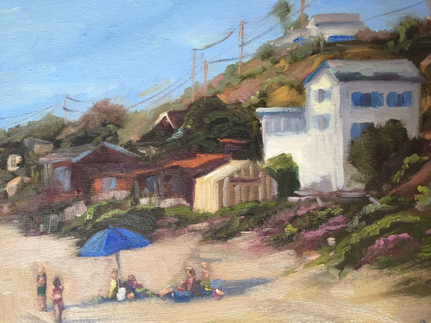 Crystal Cove Oil Painting by Kathleen M Robison
