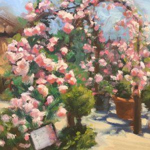 Rose Trellis Oil Painting