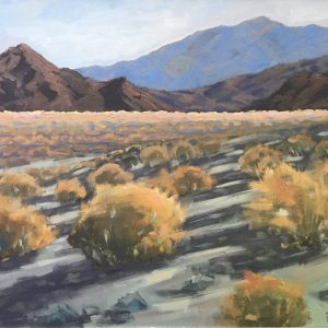 Original oil painting of the California desert.