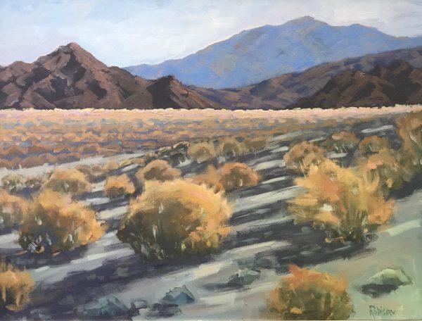 Original oil painting of the California desert.