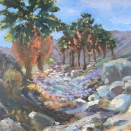 Original oil painting for sale desert canyon